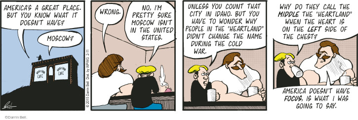 Comic Strip Darrin Bell  Rudy Park 2015-02-11 cold