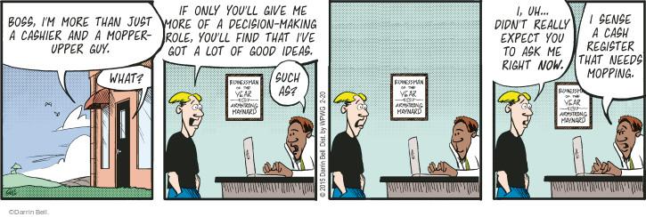 Comic Strip Darrin Bell  Rudy Park 2015-02-20 cash