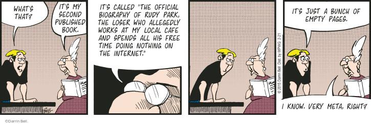 Cartoonist Darrin Bell  Rudy Park 2015-02-21 author