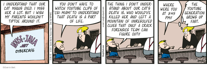 Comic Strip Darrin Bell  Rudy Park 2015-02-26 forensic