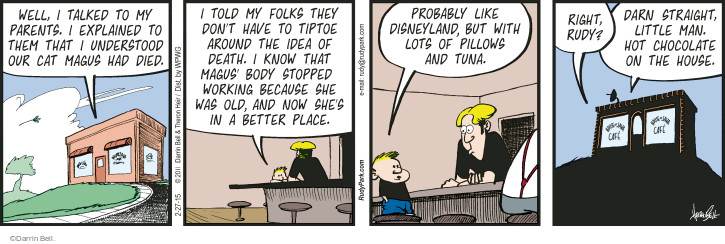 Comic Strip Darrin Bell  Rudy Park 2015-02-27 explanation