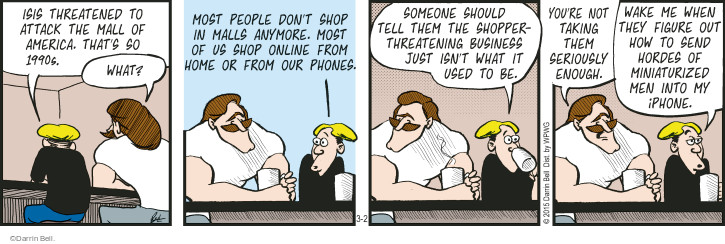 Cartoonist Darrin Bell  Rudy Park 2015-03-02 shopping mall