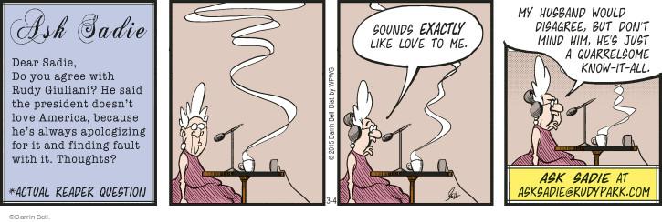 Comic Strip Darrin Bell  Rudy Park 2015-03-04 don't