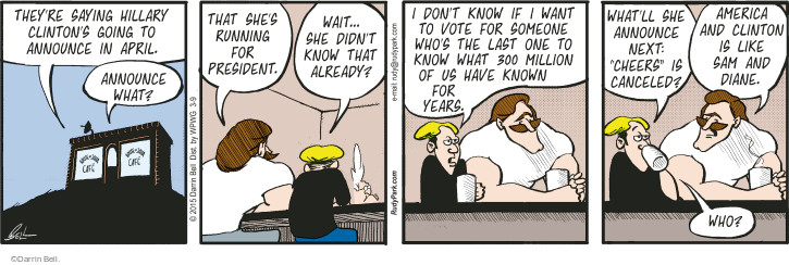 Comic Strip Darrin Bell  Rudy Park 2015-03-09 April