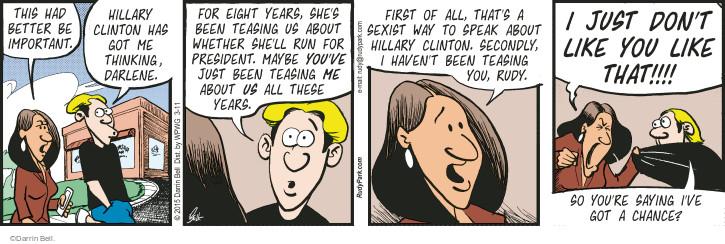 Comic Strip Darrin Bell  Rudy Park 2015-03-11 first date