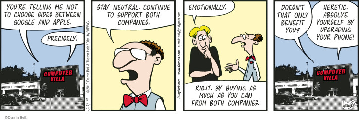 Comic Strip Darrin Bell  Rudy Park 2015-03-20 corporation