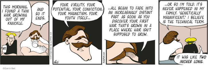 Comic Strip Darrin Bell  Rudy Park 2015-03-25 when I was your age