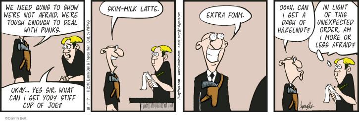 Cartoonist Darrin Bell  Rudy Park 2015-04-01 coffee cup