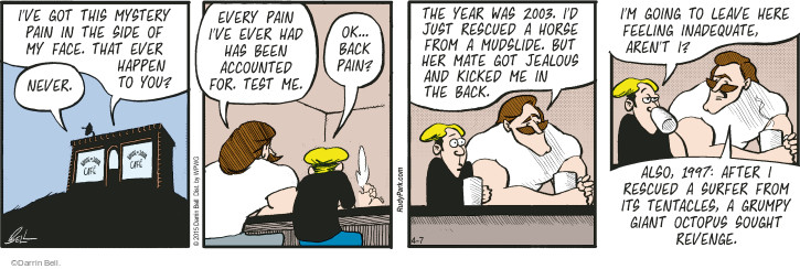 Comic Strip Darrin Bell  Rudy Park 2015-04-07 medical test