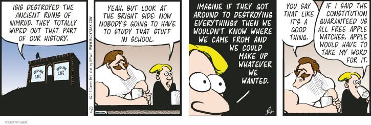 Comic Strip Darrin Bell  Rudy Park 2015-04-20 ancient