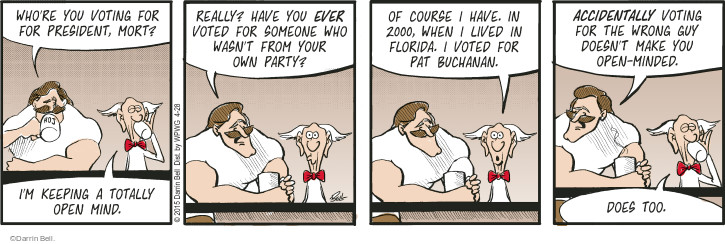 Comic Strip Darrin Bell  Rudy Park 2015-04-28 2000 election