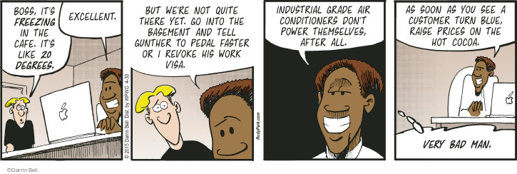 Comic Strip Darrin Bell  Rudy Park 2015-04-30 raise