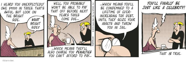 Comic Strip Darrin Bell  Rudy Park 2015-05-02 debt