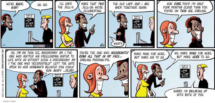 Comic Strip Darrin Bell  Rudy Park 2015-05-17 make