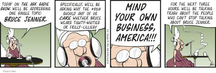 Cartoonist Darrin Bell  Rudy Park 2015-05-05 gender