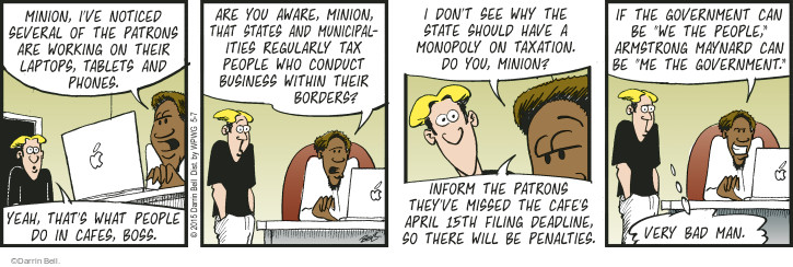 Comic Strip Darrin Bell  Rudy Park 2015-05-07 April