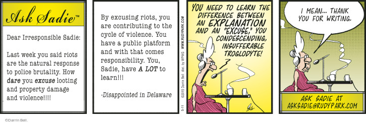 Comic Strip Darrin Bell  Rudy Park 2015-05-11 explanation