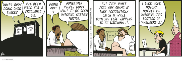 Comic Strip Darrin Bell  Rudy Park 2015-05-12 hire