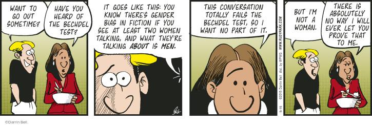 Cartoonist Darrin Bell  Rudy Park 2015-05-15 prove