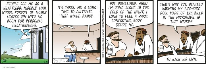 Cartoonist Darrin Bell  Rudy Park 2015-05-21 comfort