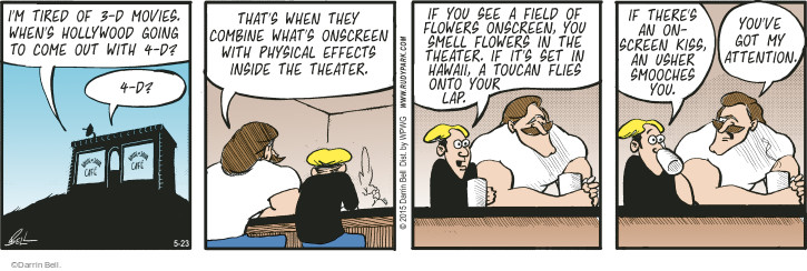 Comic Strip Darrin Bell  Rudy Park 2015-05-23 3-D movie