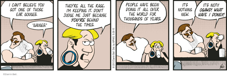 Comic Strip Darrin Bell  Rudy Park 2015-05-28 ancient