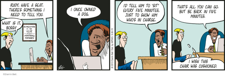 Comic Strip Darrin Bell  Rudy Park 2015-05-30 command