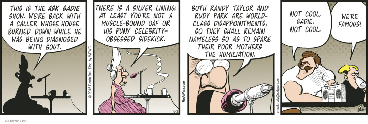 Comic Strip Darrin Bell  Rudy Park 2015-06-03 poor