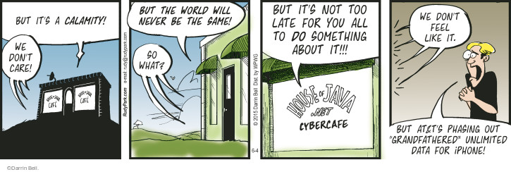 Comic Strip Darrin Bell  Rudy Park 2015-06-04 cybercafe