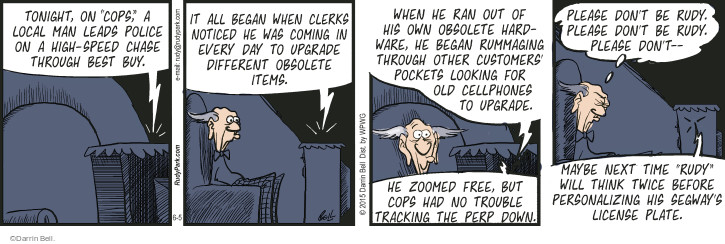 Comic Strip Darrin Bell  Rudy Park 2015-06-05 trouble