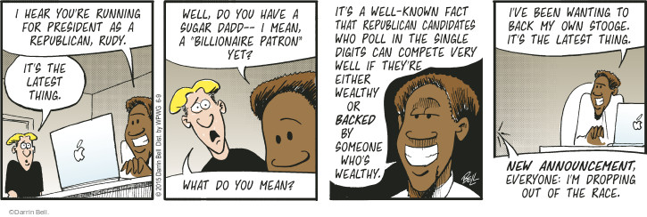 Comic Strip Darrin Bell  Rudy Park 2015-06-09 wealthy