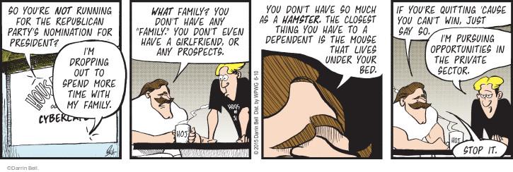 Cartoonist Darrin Bell  Rudy Park 2015-06-10 drop it
