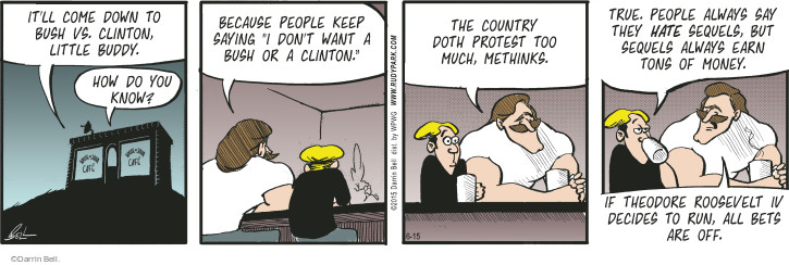 Comic Strip Darrin Bell  Rudy Park 2015-06-15 earn