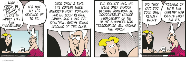 Comic Strip Darrin Bell  Rudy Park 2015-06-20 reality television