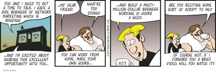 Comic Strip Darrin Bell  Rudy Park 2015-06-26 forward