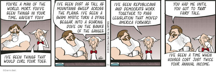 Comic Strip Darrin Bell  Rudy Park 2015-07-01 republican democrat