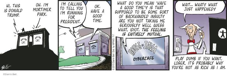 Comic Strip Darrin Bell  Rudy Park 2015-07-07 cybercafe