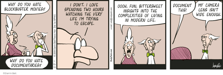Comic Strip Darrin Bell  Rudy Park 2015-07-15 movie blockbuster