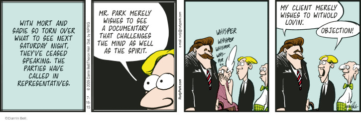 Comic Strip Darrin Bell  Rudy Park 2015-07-16 withhold