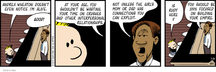 Comic Strip Darrin Bell  Rudy Park 2015-07-20 build