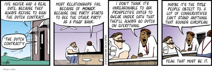 Cartoonist Darrin Bell  Rudy Park 2015-07-22 conservative