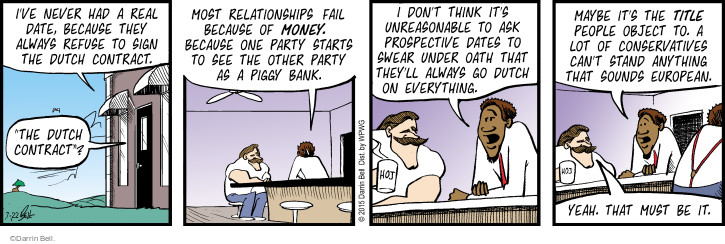 Comic Strip Darrin Bell  Rudy Park 2015-07-22 bank