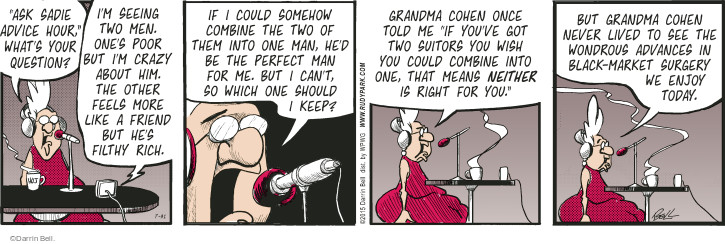 Comic Strip Darrin Bell  Rudy Park 2015-07-31 crazy