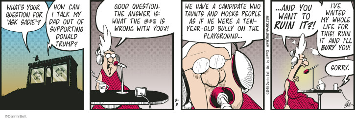 Comic Strip Darrin Bell  Rudy Park 2015-08-03 whole
