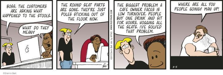 Cartoonist Darrin Bell  Rudy Park 2015-08-05 furniture