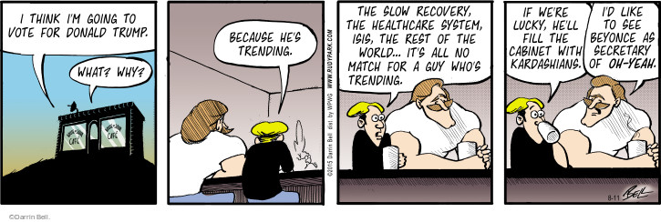Comic Strip Darrin Bell  Rudy Park 2015-08-11 slow