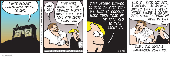 Comic Strip Darrin Bell  Rudy Park 2015-08-12 means