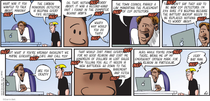 Comic Strip Darrin Bell  Rudy Park 2015-08-30 crazy