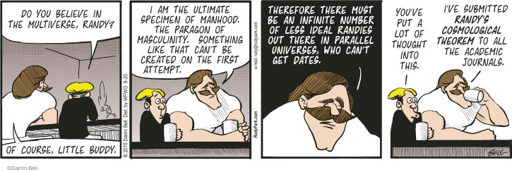 Comic Strip Darrin Bell  Rudy Park 2015-08-20 multi