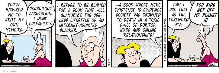 Comic Strip Darrin Bell  Rudy Park 2015-08-29 online